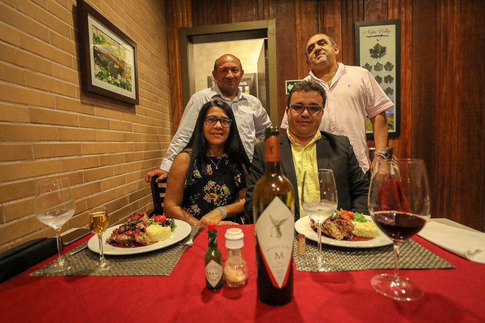 Casal sorteado saboreou o melhor da gastronomia e dos vinhos