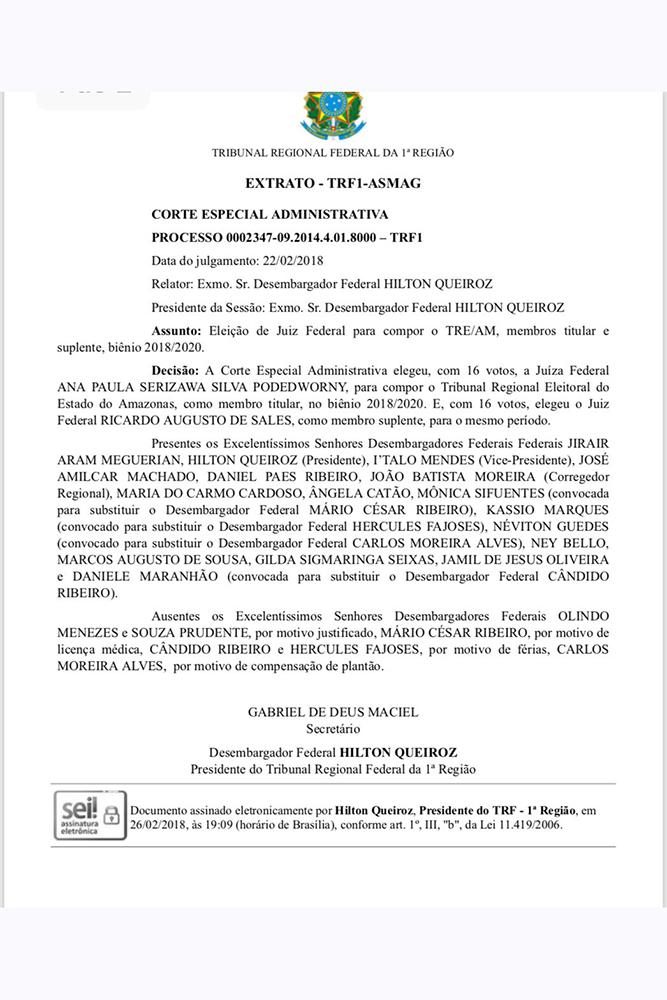 TRE-AM terá juíza que prendeu José Melo e ex-secretários