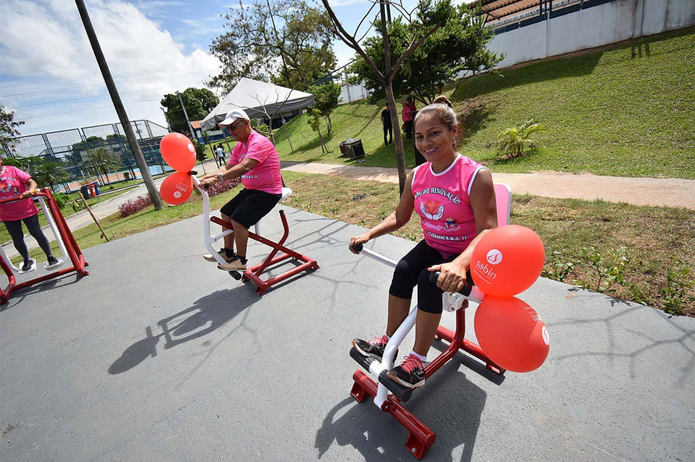 Academia ao ar livre na Minivila Olímpica Jair Sampaio