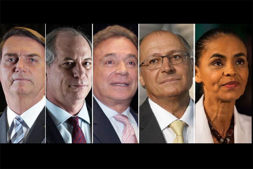Resultado de imagem para Bolsonaro, Marina Silva, Ciro Gomes e Alvaro Dias